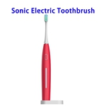 2020 New Product 5 Modes IP67 Waterproof Automatic Toothbrush with Staclean Dupont Grade Bristles(Red)