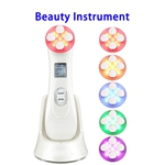 5 Levels Skin Care Facial Lifting Massager EMS RF Skin Tightening Radio Frequency Machine (White)