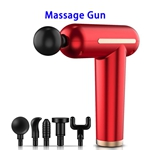 Brand New USB Rechargeable 3 Speed Modes Massage Gun Deep Tissue Percussion Body Massager (Red)