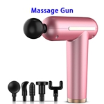 Brand New USB Rechargeable 3 Speed Modes Massage Gun Deep Tissue Percussion Body Massager (Pink)
