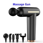 Brand New USB Rechargeable 3 Speed Modes Massage Gun Deep Tissue Percussion Body Massager (Black)