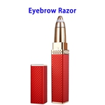 New Arrival Hair Remover Lady Portable Electric Eyebrow Trimmer( Rose Red)