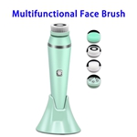 4 in 1 Facial Cleansing Brush Directional Rotation Mode Face Brush with  IPX7 Waterproof Multfunctional Face Brush(Green)