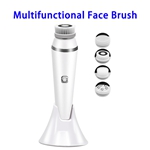 4 in 1 Facial Cleansing Brush Directional Rotation Mode Face Brush with  IPX7 Waterproof Multfunctional Face Brush(White)