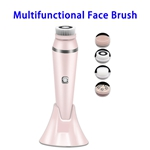 4 in 1 Facial Cleansing Brush Directional Rotation Mode Face Brush with  IPX7 Waterproof Multfunctional Face Brush(Pink)