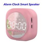 5.0 Dual Pairing Loud Wireless Mini Speakers Alarm Clock Portable Smart Speaker(Pink)