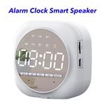 5.0 Dual Pairing Loud Wireless Mini Speakers Alarm Clock Portable Smart Speaker(White)