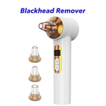 3 Heads Face Pore Cleaner Vacuum Electric Blackhead Remover Vacuum(White)