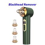 3 Heads Face Pore Cleaner Vacuum Electric Blackhead Remover Vacuum(Green)