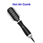 1200W Professional 3 in 1 Salon Hot Air Styler Brush One Step Hair Dryer and Volumizer(Black)