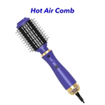 1200W Professional 3 in 1 Salon Hot Air Styler Brush One Step Hair Dryer and Volumizer(Purple)