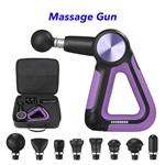 CE ROHS FCC Multi-Sided Handle Design 5 Speeds Muscle Massage Gun(Purple)