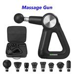 CE ROHS FCC Multi-Sided Handle Design 5 Speeds Muscle Massage Gun(Black)