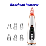 Facial Pore Clean Nose Strip Electric Vacuum Blackhead Remover Vacuum(Rose Gold)