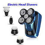 5 in 1 5 Shaver Heads LED Beard Trimmer Razor Hair Trimmer Electric Shavers(Blue)