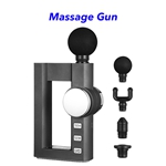 New Deep Tissue Percussion Mini Hot Compress LCD Fascia Massage Gun(Dark gray)
