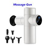 30 Speeds Upgraded Mini LCD Touch Screen Deep Tissue Pocket Handheld Fascia Massage Gun(White)
