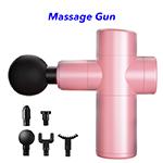 30 Speeds Upgraded Mini LCD Touch Screen Deep Tissue Pocket Handheld Fascia Massage Gun(Pink)