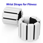 New Technology Magnetic Therapy Weight-Bearing Bracelet Adjustable Ankle Wrist Weight Bracelet (White)