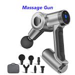 Ergonomic Handle Deep Tissue Muscle Massager Gun Percussion Massager for Athletes Ultra-Quiet Brushless Motor Massager Massage Gun