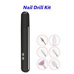 Portable USB Rechargeable Mini Nail Drill Kit Nail Polisher Electric Manicure & Pedicure Set (Black)