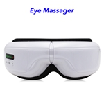 Wireless Music Rechargeable Eye Therapy Air Pressure Vibration Eye Massager with Heat (white)
