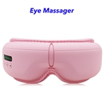 Wireless Music Rechargeable Eye Therapy Air Pressure Vibration Eye Massager with Heat (pink)