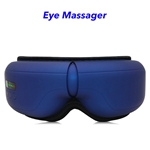 Wireless Music Rechargeable Eye Therapy Air Pressure Vibration Eye Massager with Heat (blue)