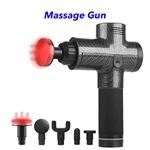 Trend 20 Speeds 5 Heads Heat Fascial Handheld Vibration Deep Tissue Muscle Massage Gun (Carbon Fiber)