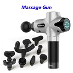 Therapy Handheld Percussion Deep Tissue Fascial Gun Electric Muscle Massage Gun(Silver)