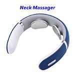 Cordless Massage Neck Ems Smart Electric Neck Massager with Heat(Bule)