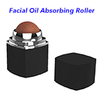 Naturally Green Facial Skincare Tool Oil Control Oil Absorbing Volcanic Face Roller(Black)