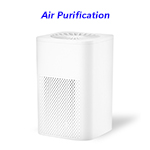 Portable Air Cleaner Home Use Uv Hepa Filter Air Purification Ionic Electrostatic Car Air Purifie(White)