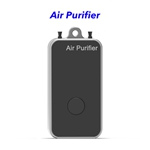 Negative Ion Household Mini Portable Wearable Hepa Filter Air Purifier Necklace(Silver)