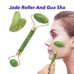 Natural Skin Massage Tool Facial Massage Jade Roller Gua Sha Set