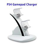 Brand New Designed Stable and Fast PS4 Gamepad Charger (White)