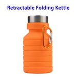 LFGB Approved 550ml Outdoor Food Grade Silicone Collapsible Sport Foldable Water Bottle (Orange)