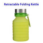 LFGB Approved 550ml Outdoor Food Grade Silicone Collapsible Sport Foldable Water Bottle (Green)