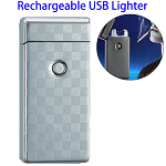 Dual Arcs Rechargeable Electric USB Cigarette Lighter (Silver)