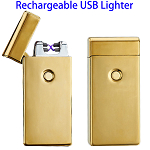 Dual Arcs Rechargeable Electric USB Cigarette Lighter (Gold)