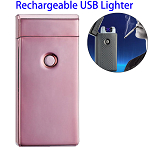 Dual Arcs Rechargeable Electric USB Cigarette Lighter (Pink)