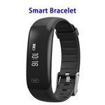 Z18 Smart Band Smart Bracelet Heart Rate Monitor Wristband Support SOS (Black)