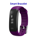 Z18 Smart Band Smart Bracelet Heart Rate Monitor Wristband Support SOS (Purple)