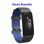 Brand New Activity Tracker Sleep Monitoring Message Reminder Waterproof Bracelet with SOS Function(Mazarine Blue+Black)
