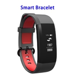 Brand New Activity Tracker Sleep Monitoring Message Reminder Waterproof Bracelet with SOS Function(Red+Black)