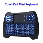2.4G USB Rechargeable Backlight Wireless Keyboard with Touchpad Mouse