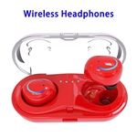 Q18 HD Sound Bluetooth Headphone 4.2 In-ear Earphone with Charging Base (Red)