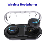 Q18 HD Sound Bluetooth Headphone 4.2 In-ear Earphone with Charging Base (Black)