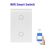 FCC ROHS Approved Wifi Smart Switch Compatible With Alexa and Google Home (Two Control)