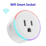 CE RoHS FCC ETL Approved Mini Smart Plug WiFi Socket with Changeable LED Light